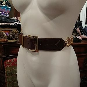 Express made in italy leather belt